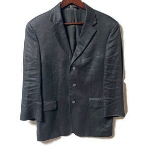 Jos A Bank Black Linen Sports Coat 38 Short